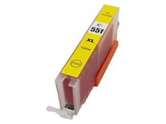 Canon CLI-551XLY gul blækpatron 13ml - Kompatibel