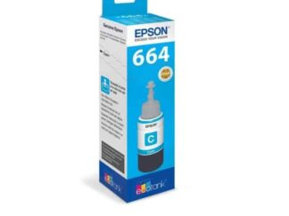 Epson T6642 cyan blækrefill 70ml - C13T664240 - original