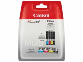 Multi pack! Canon CLI-551 BK-C-M-Y blækpatron 28ml - 6509B009 - original