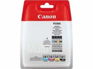 Multi pack! Canon CLI-581 BK-C-M-Y blækpatron 22.4ml - 2103C004 - original