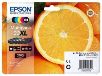 Multi pack! Epson 33XL BK-C-M-Y blækpatron - C13T33574010 - original