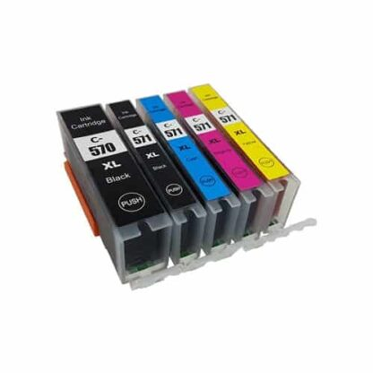 Rabat sæt! Canon PGI-570XL / CLI-571XL - 5 farver PBK-BK-C-M-Y - Kompatibel