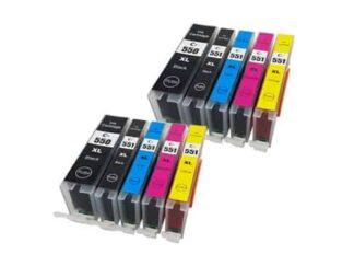 Rabat sæt! Canon PGI-550XL / CLI-551XL - 2 x 5 farver PBK-BK-C-M-Y - Kompatibel