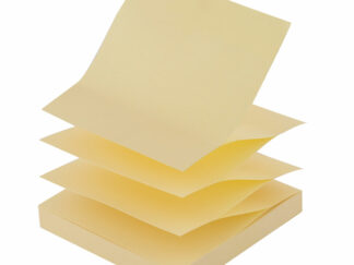 Notes blok alternativ til Post-it 12 stk. Gul zig zag med 100 pr blok 75x75mm