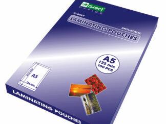 Lamineringslommer A5 125mic 100 stk