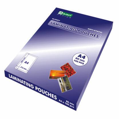 Lamineringslommer A4 80mic 100 stk