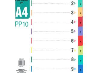 Faneblade A4 1-10 i plastik